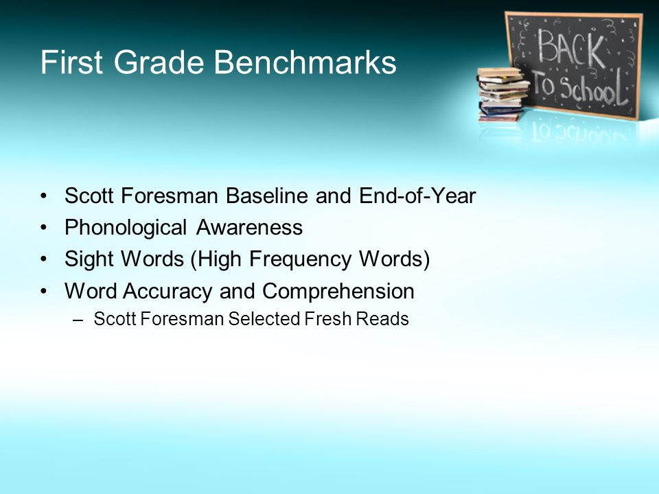 First Grade Benchmarks