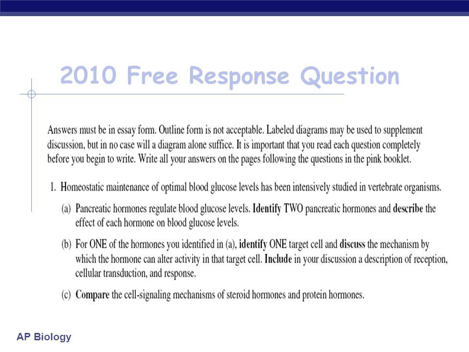 ap biology free response 2010