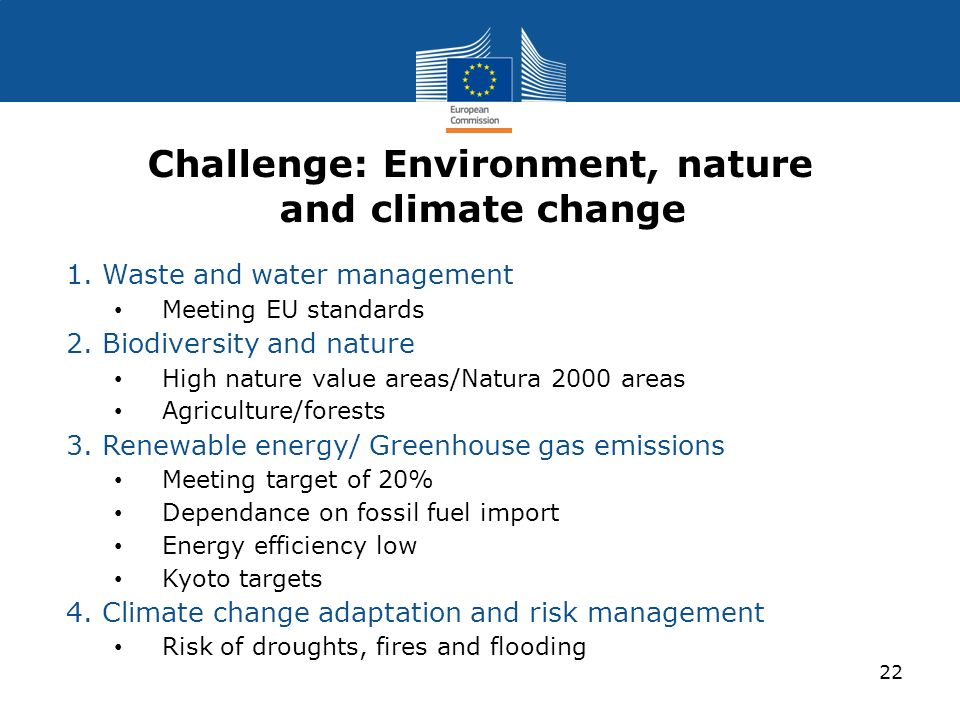 Challenge: Environment, nature and climate change