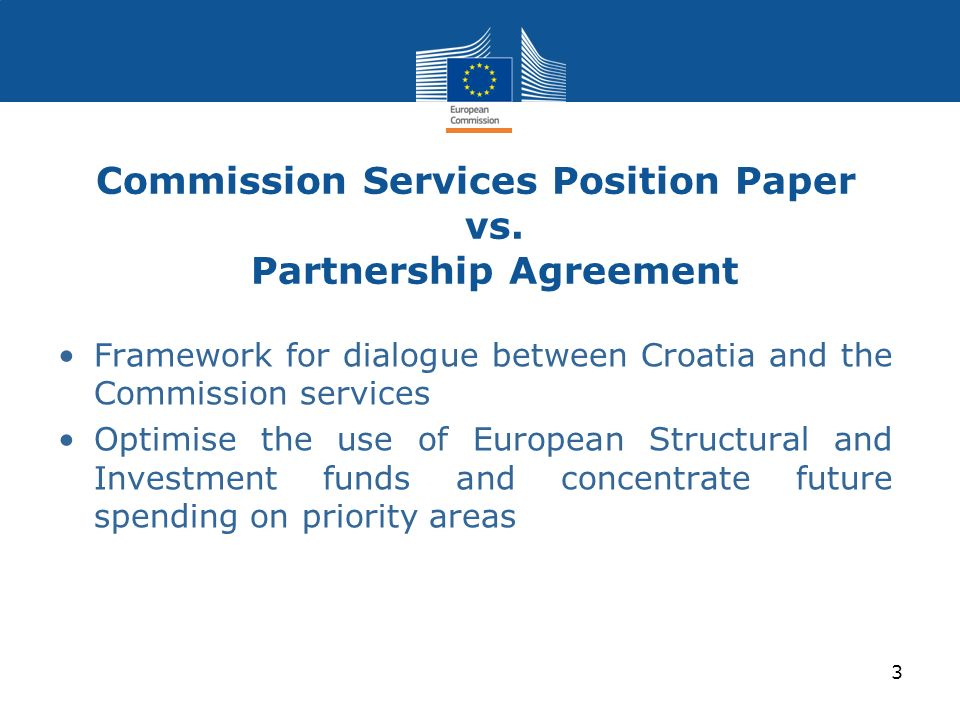 Commission Services Position Paper vs. Partnership Agreement