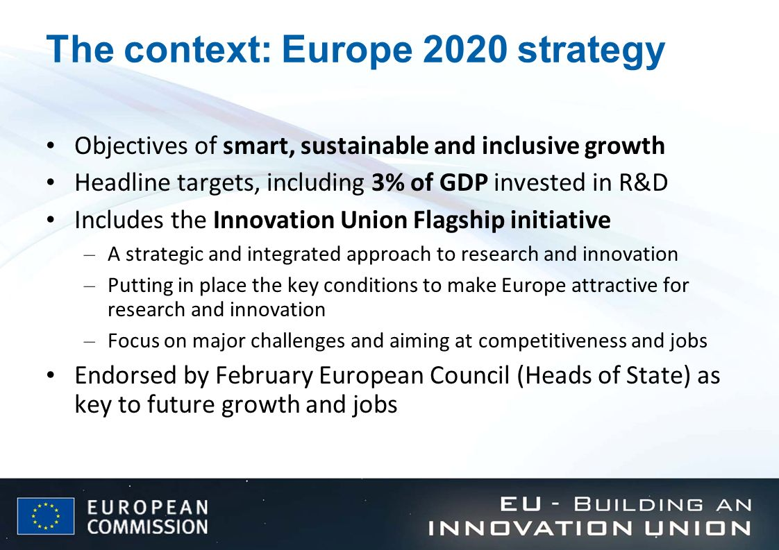 The context: Europe 2020 strategy