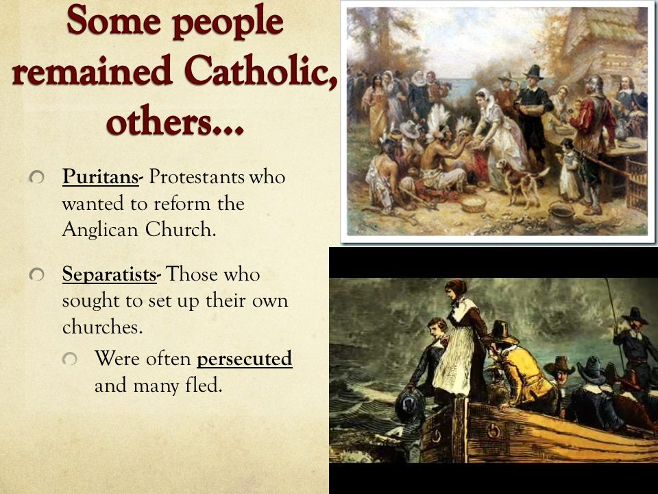 Some people remained Catholic, others…