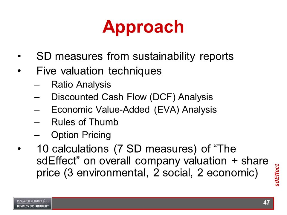 Approach SD measures from sustainability reports