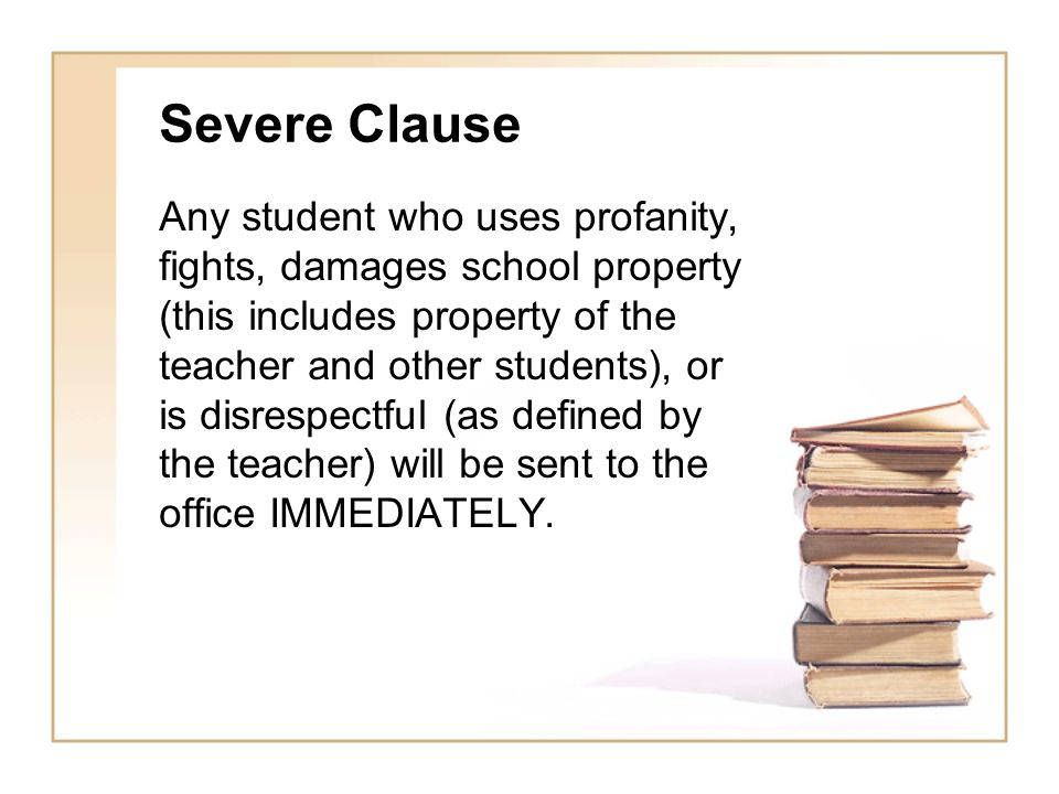 Severe Clause
