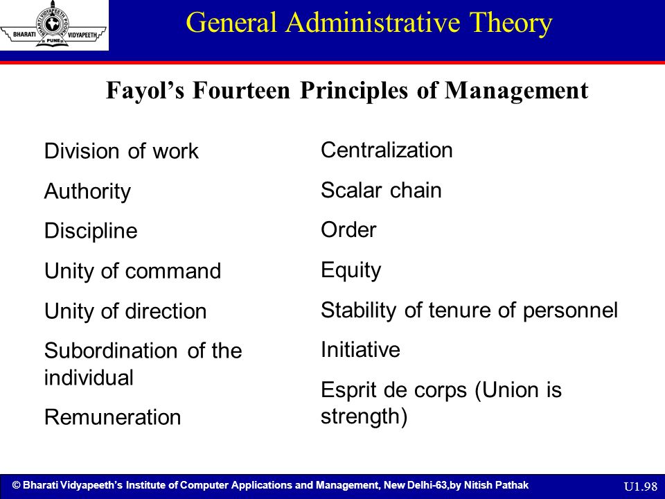 analysis of fayol s 14 principles Pdf | this paper focuses generally on the 'fourteen principles of management' by henri fayol however, it specifically analyses their application to and.