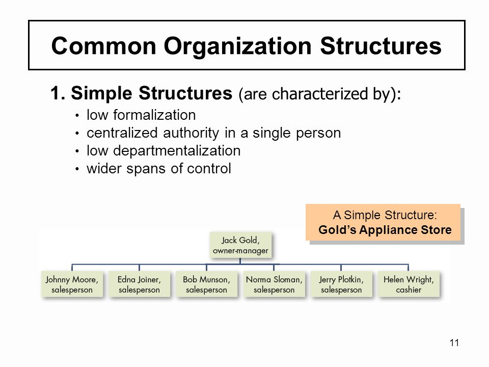 common organization structures