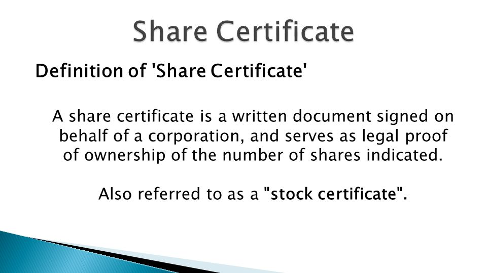 Recap Allotment Of Shares Application For Allotment Of Shares Ppt