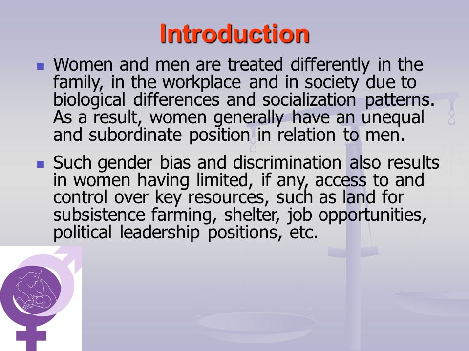 introduction of gender bias