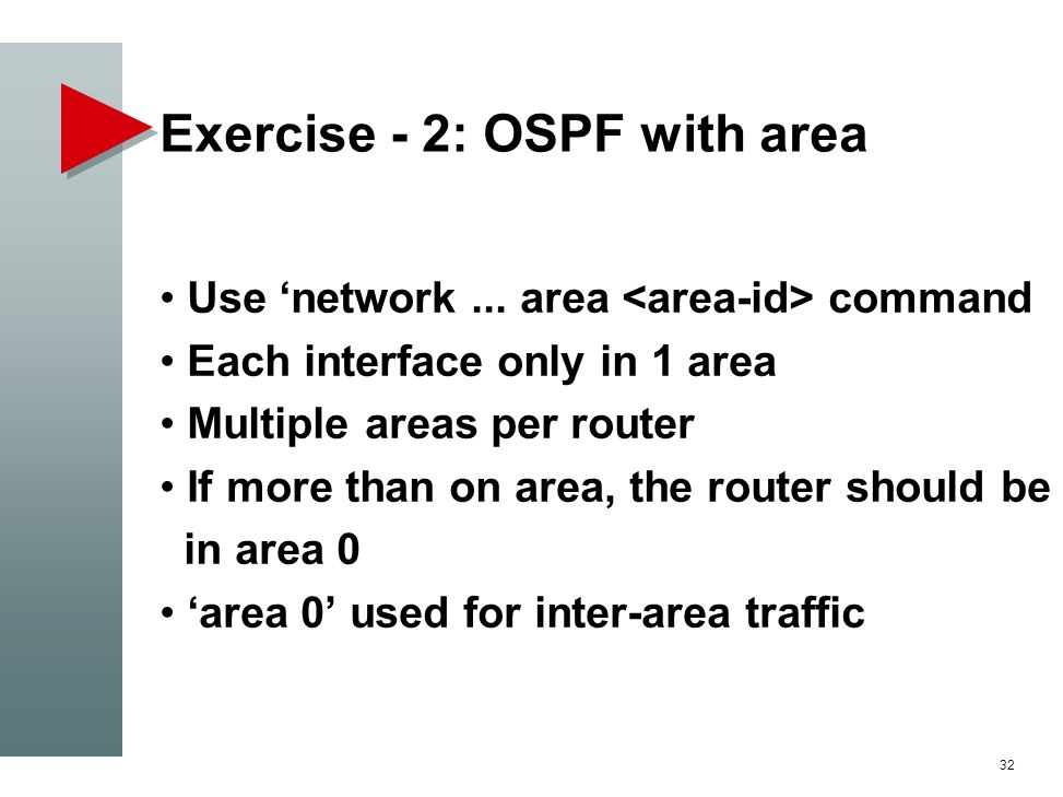 Exercise - 2: OSPF with area