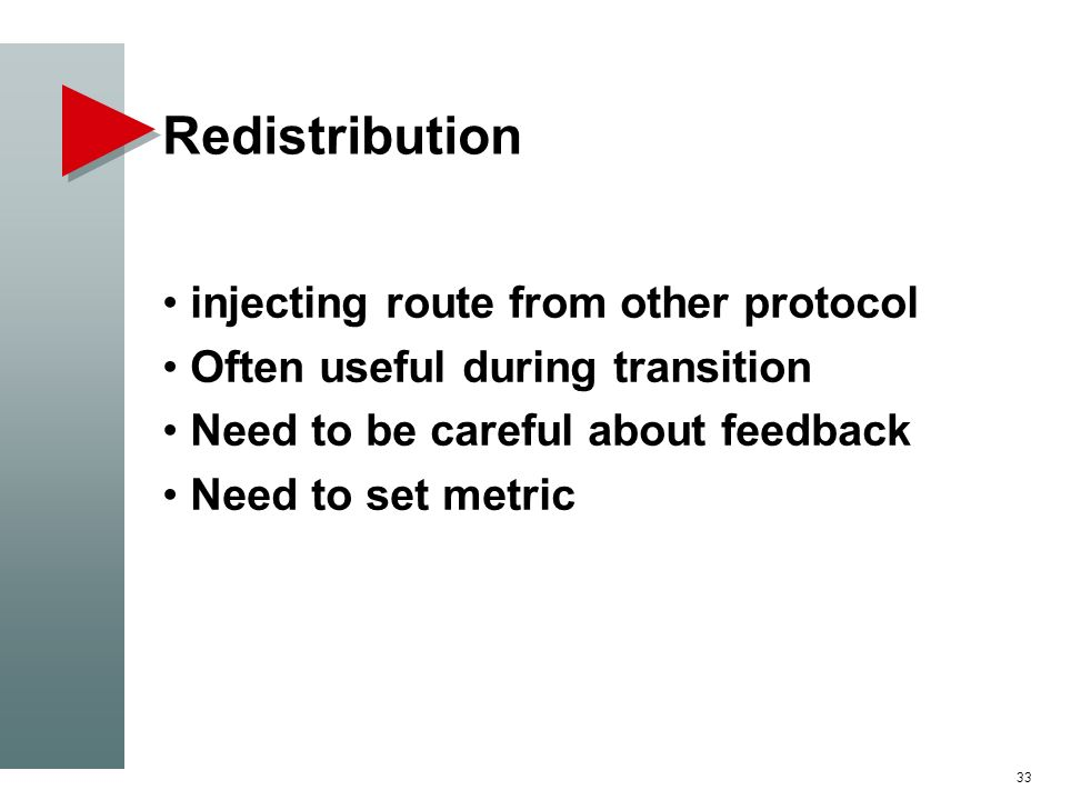 Redistribution injecting route from other protocol