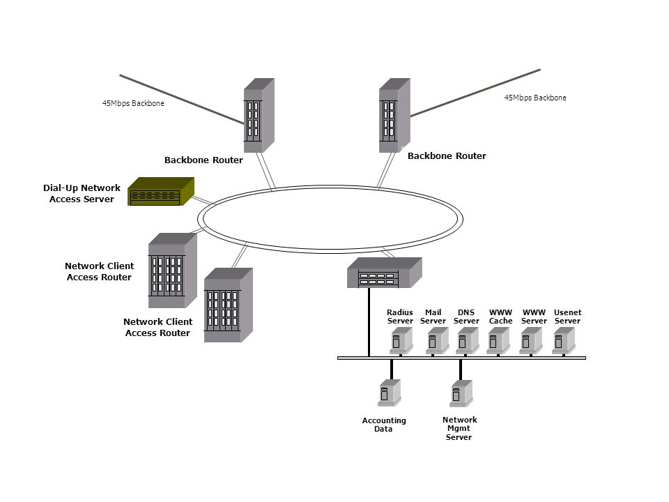 Dial-Up Network Access Server Network Client Access Router