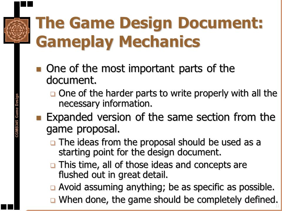 Preproduction In The Game Development Process Ppt Download - How to write a game design document