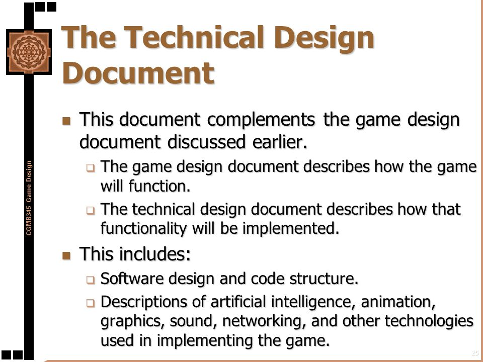 Preproduction In The Game Development Process Ppt Download - Game technical design document