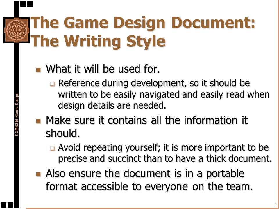 Gamedev Game Design Document Example