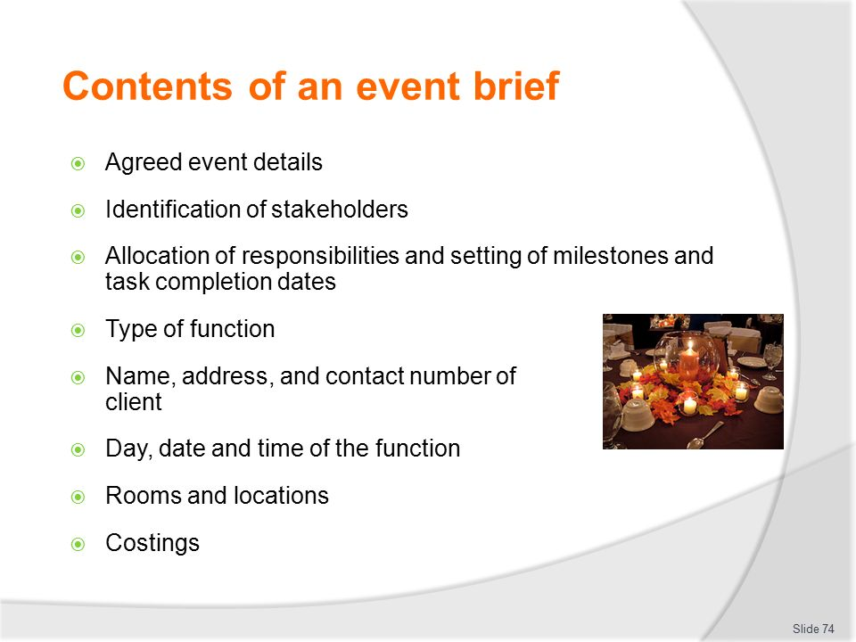 design a concept for a major event or function