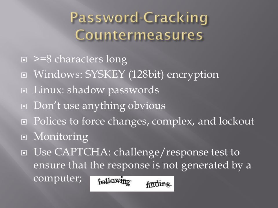 Chapter 4 System Hacking: Password Cracking, Escalating Privileges