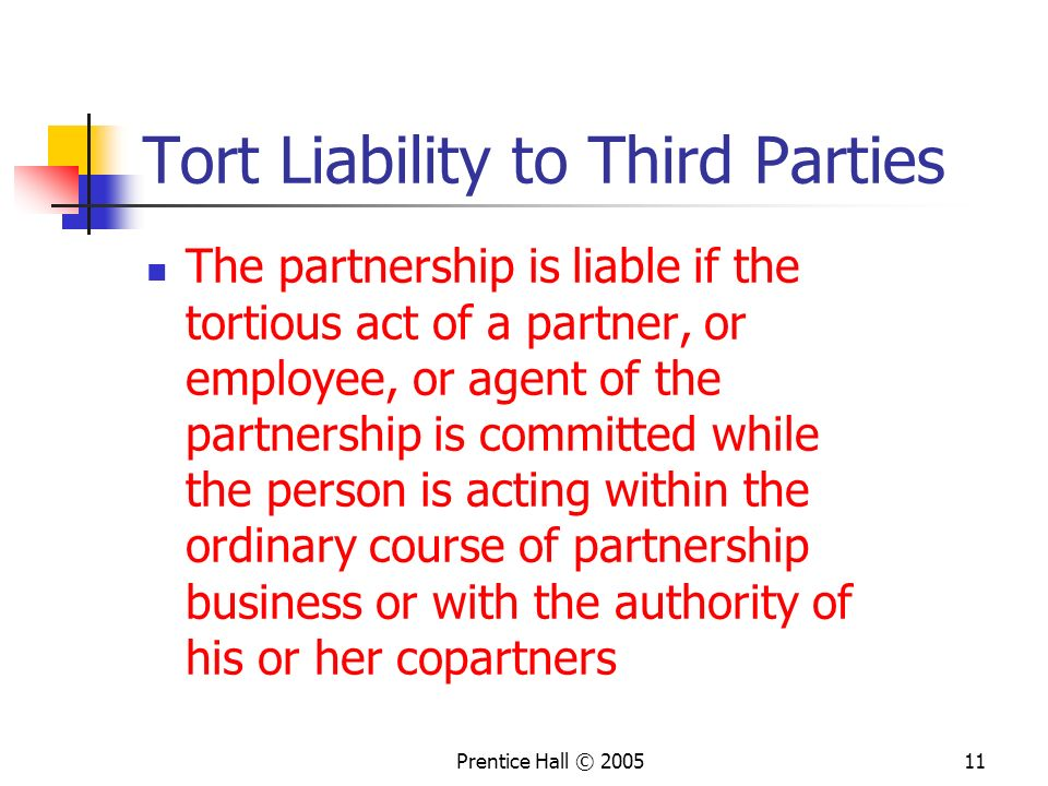 Tort Liability to Third Parties