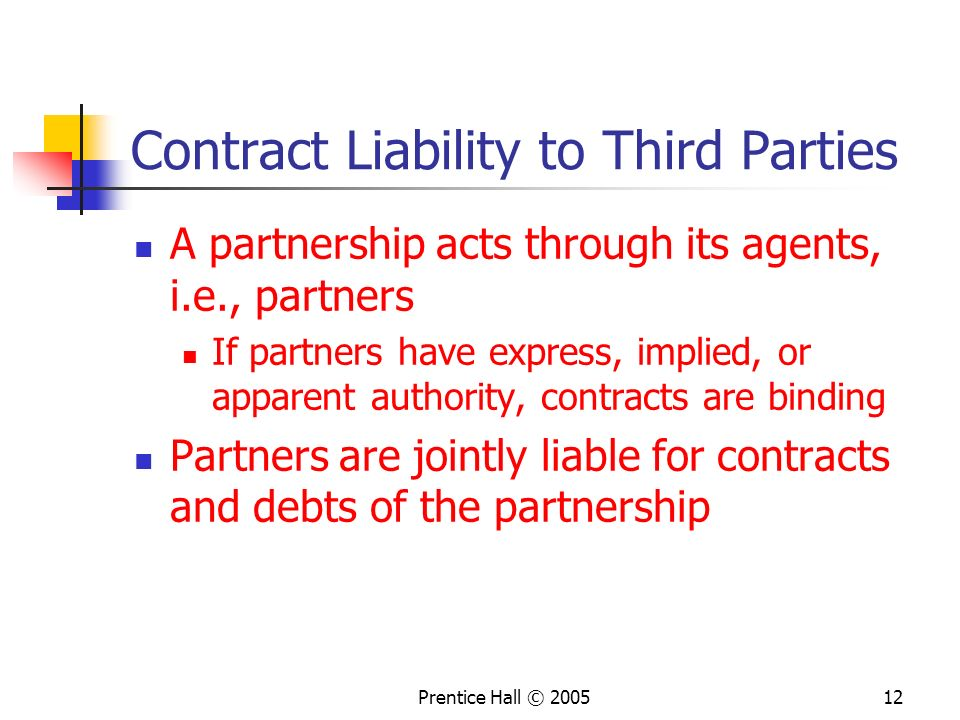 Contract Liability to Third Parties