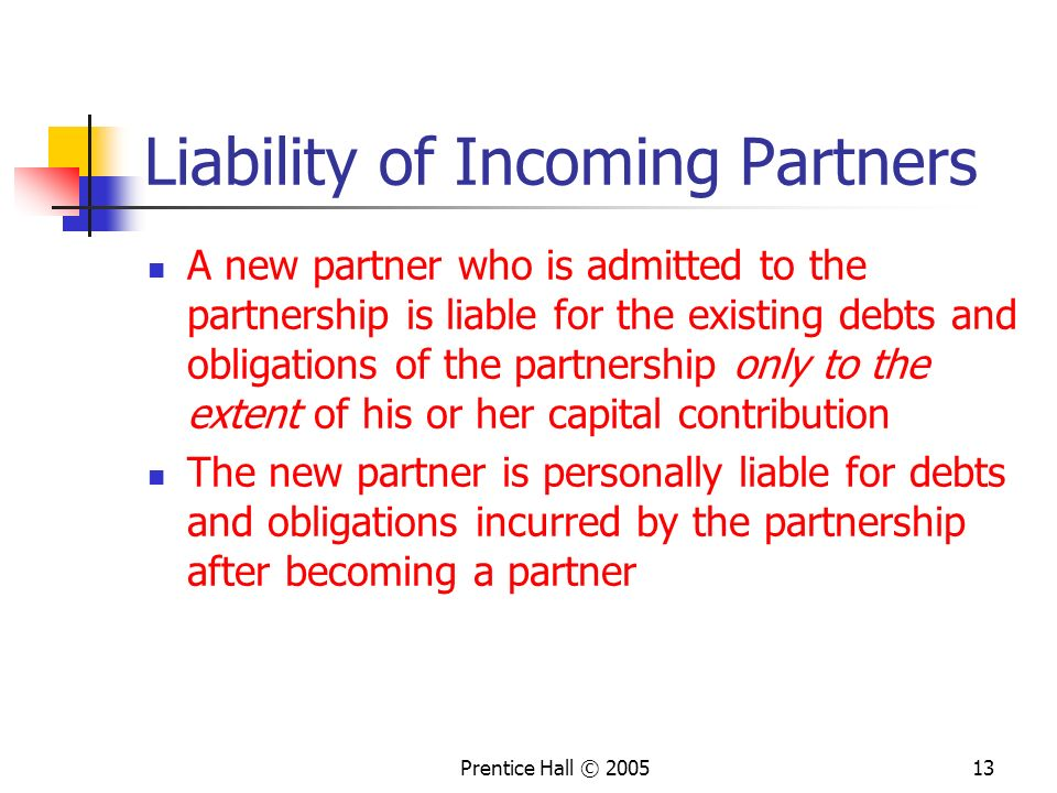 Liability of Incoming Partners