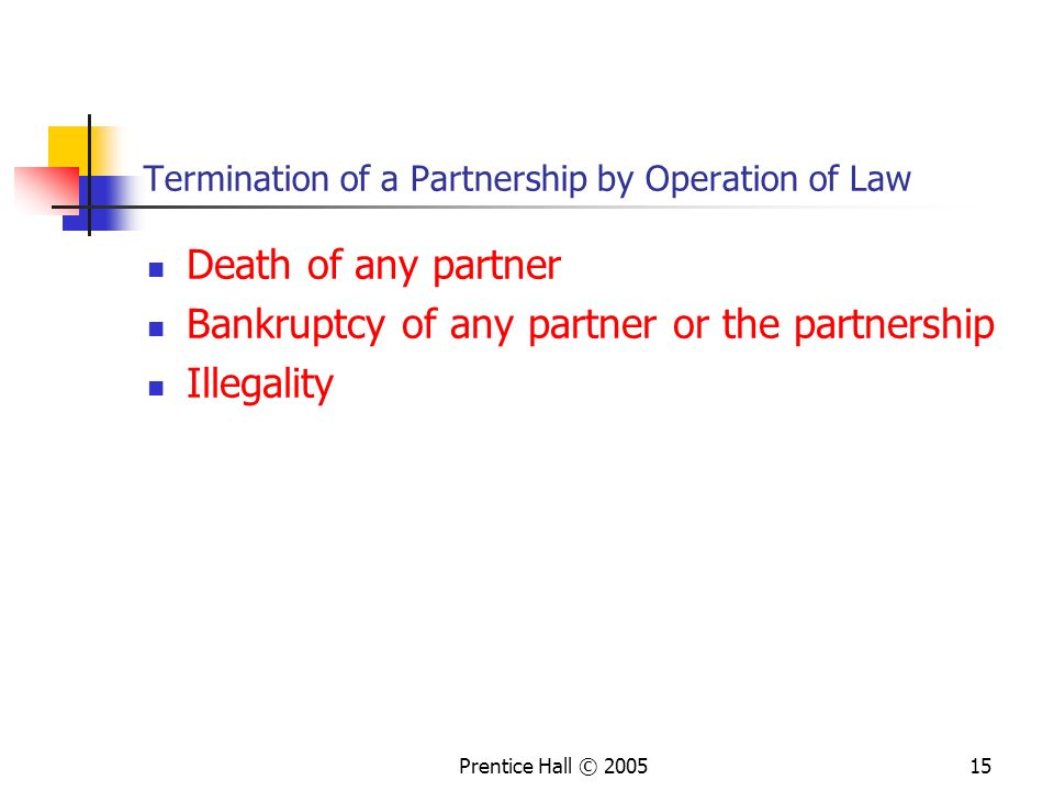 Termination of a Partnership by Operation of Law