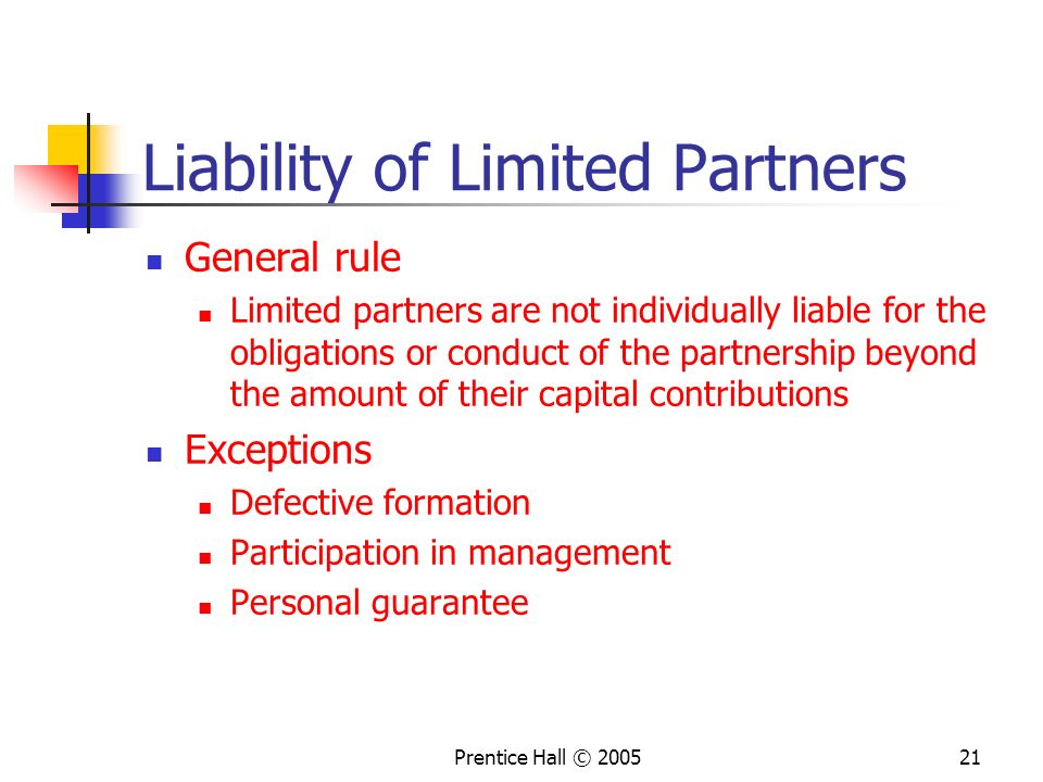 Liability of Limited Partners