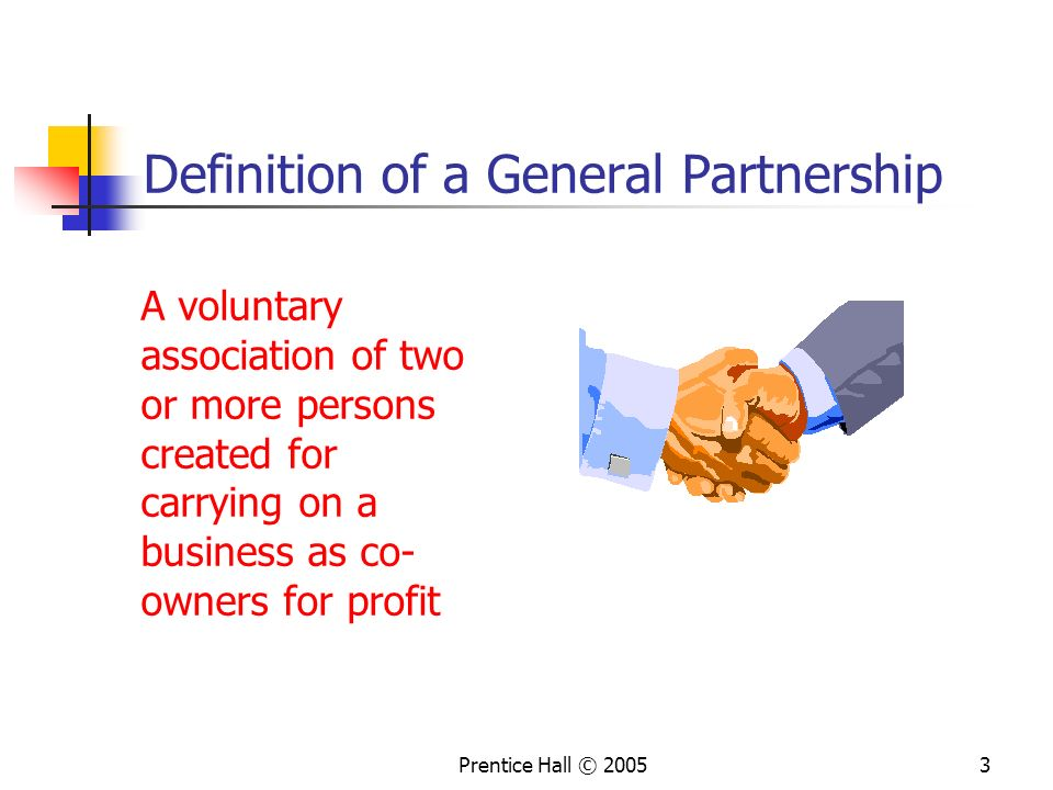 Definition of a General Partnership