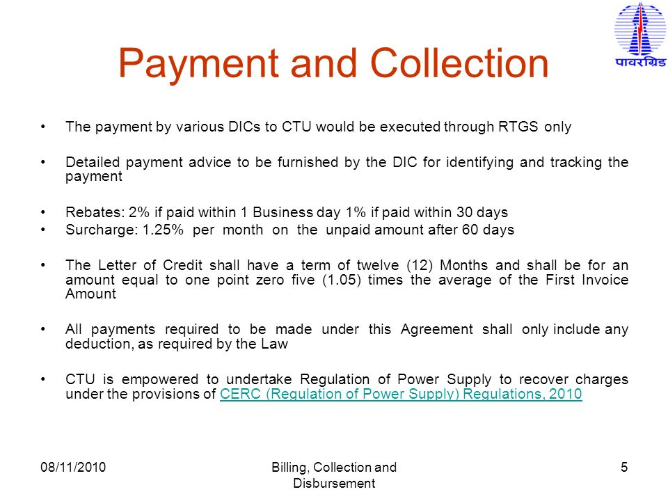 Billing, Collection and Disbursement Procedures - ppt video online