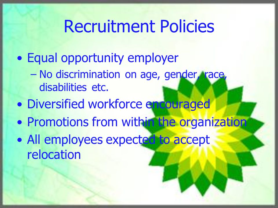 recruitment: discrimination and equal opportunity policy essay Employment discrimination policy uploaded by howardar48 on oct 03, 2014 discrimination in the workplace abstract our company is committed to the principals of equal employment opportunity and to making employment decisions based on merit and value.