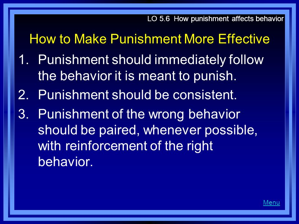 How to Make Punishment More Effective
