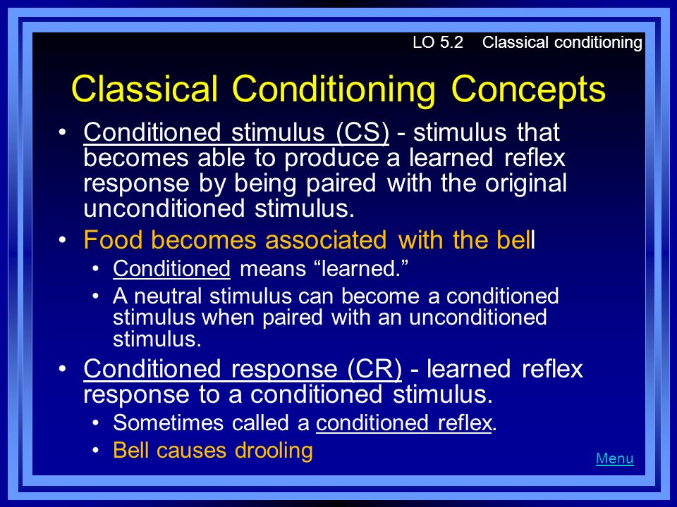 Classical Conditioning Concepts