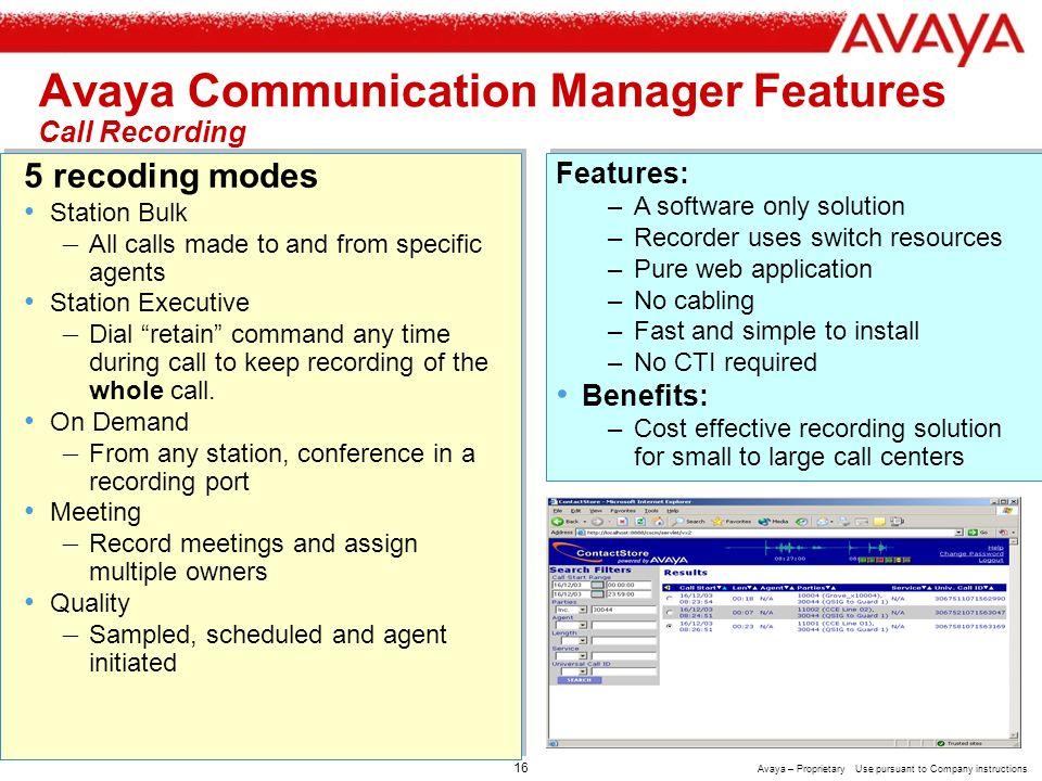 Avaya Call Recording Software