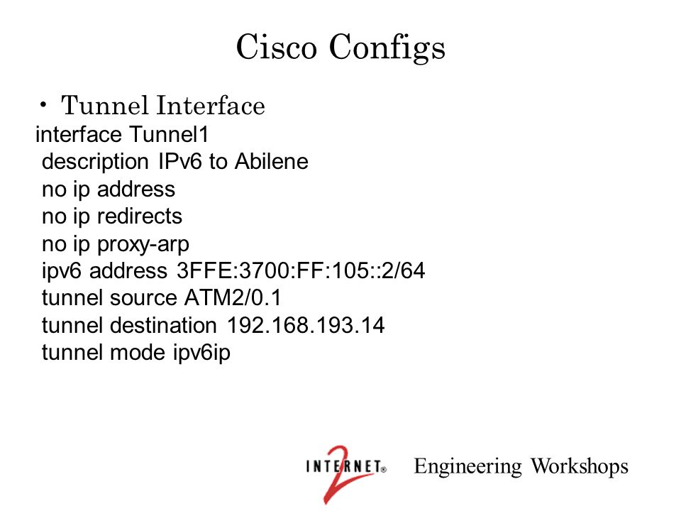 Cisco Configs Tunnel Interface interface Tunnel1