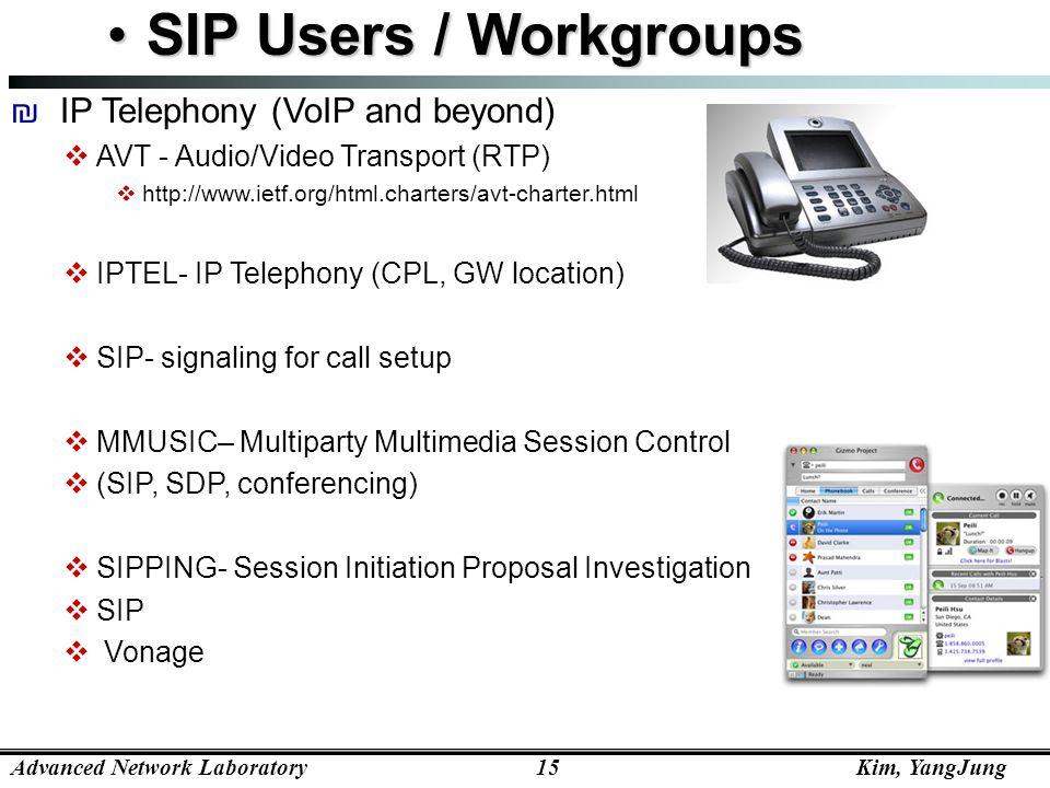 SIP Users / Workgroups IP Telephony (VoIP and beyond)