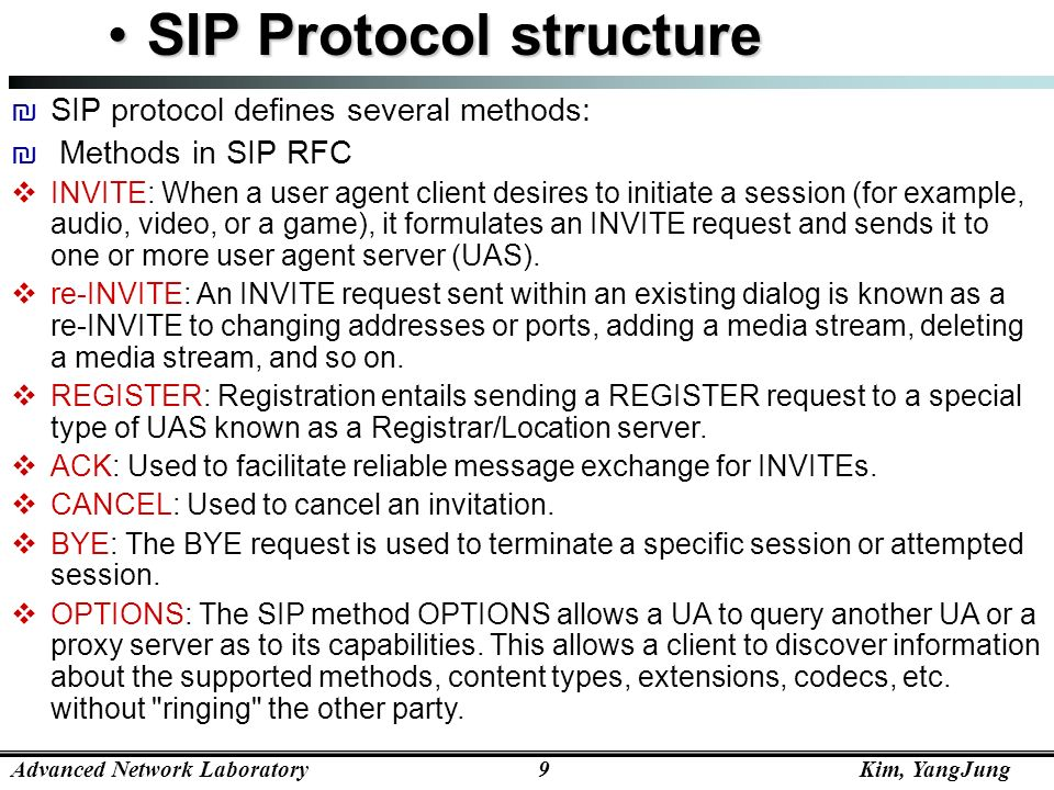 SIP Protocol structure