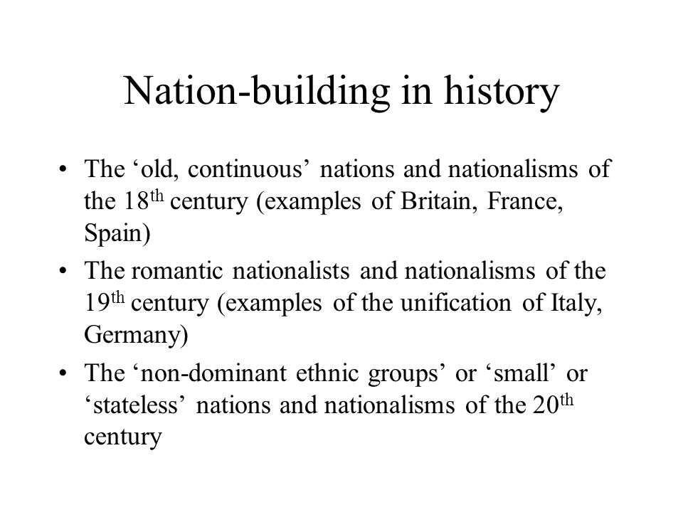 nation building examples