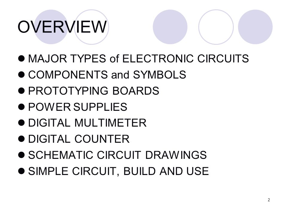 Agenda Introduction To Circuits Building A Simple Circuit Ppt