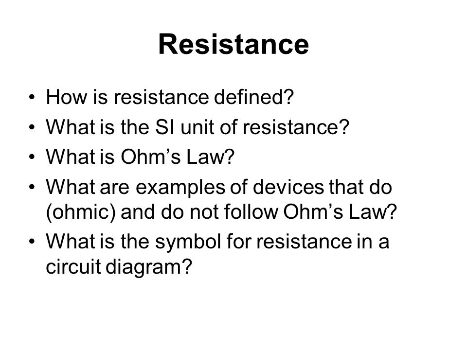 Electric Currents Resistance Electric Power Ppt Download