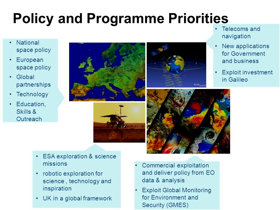 Policy and Programme Priorities