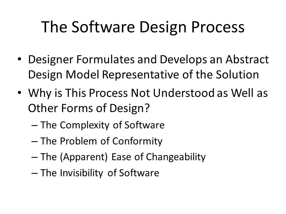 Nature of Software Design - ppt video online download
