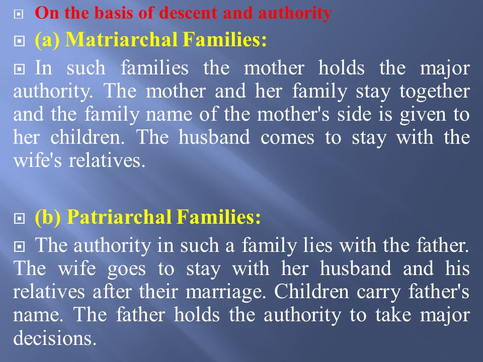 Family Definition The Family is a small group consisting ordinarily