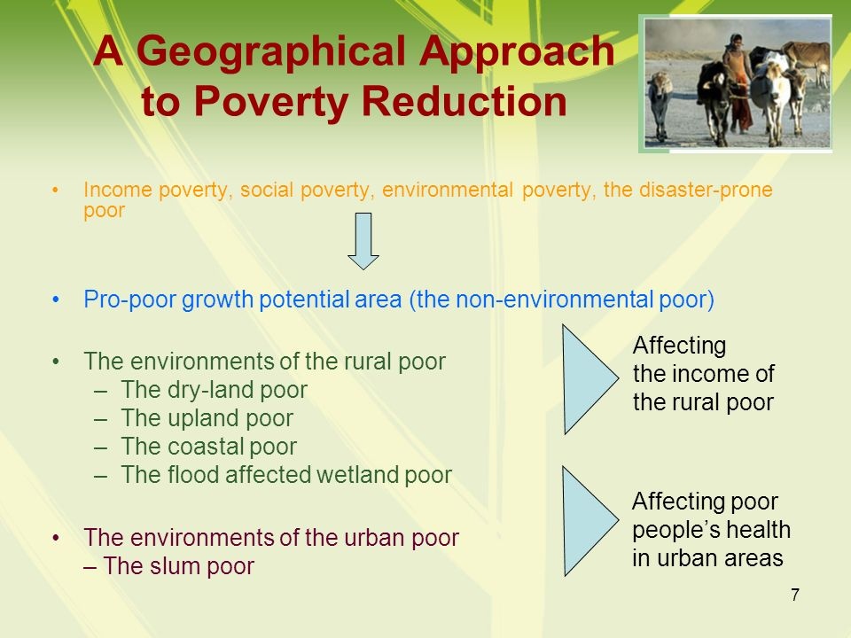 A Geographical Approach to Poverty Reduction