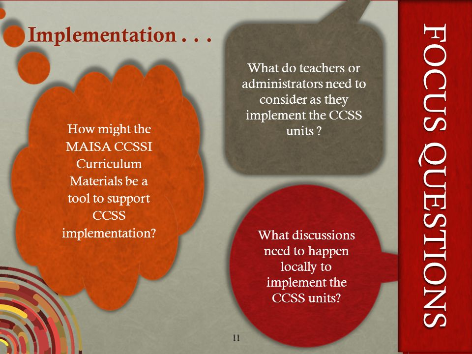 What discussions need to happen locally to implement the CCSS units