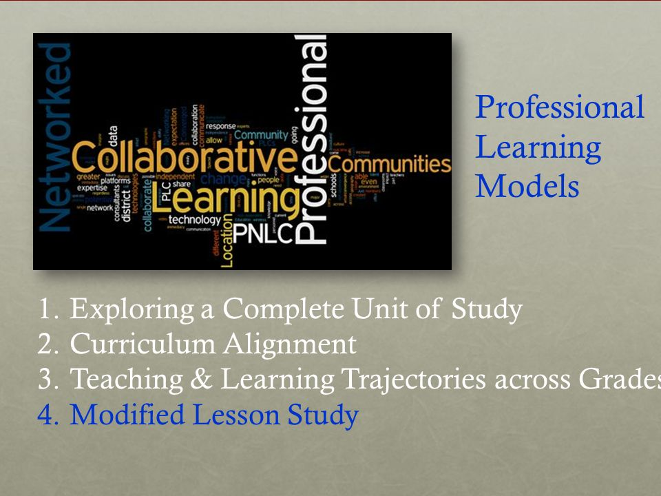 Professional Learning Models