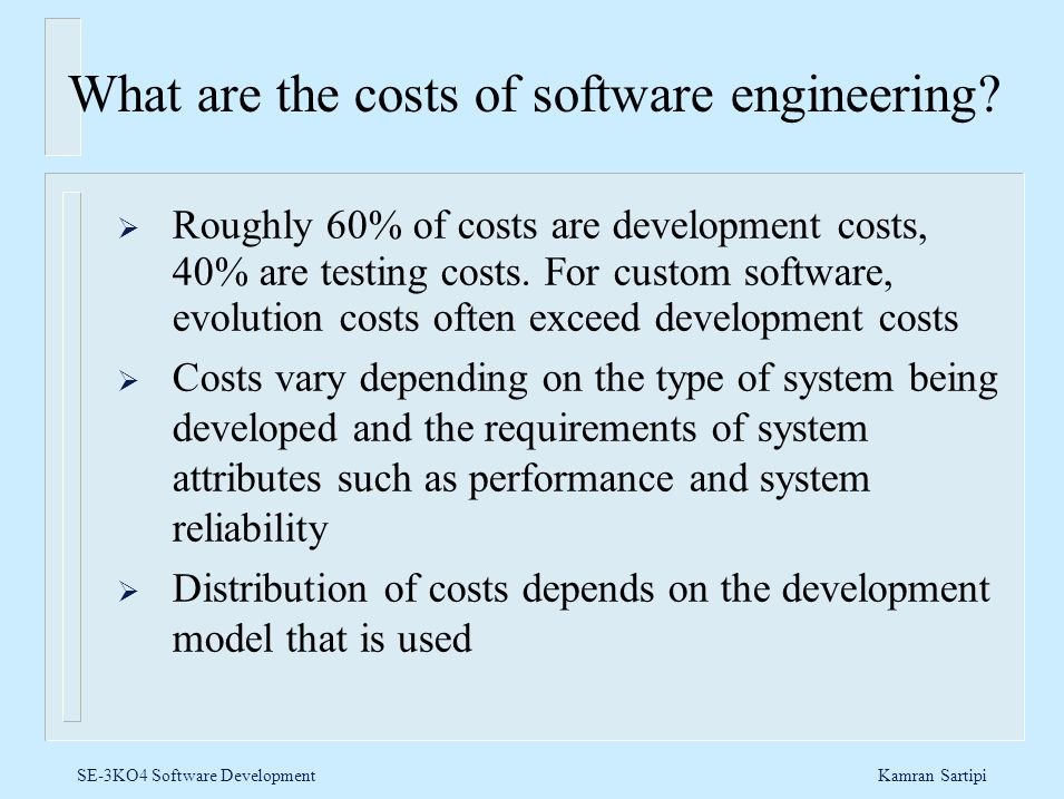 What are the costs of software engineering