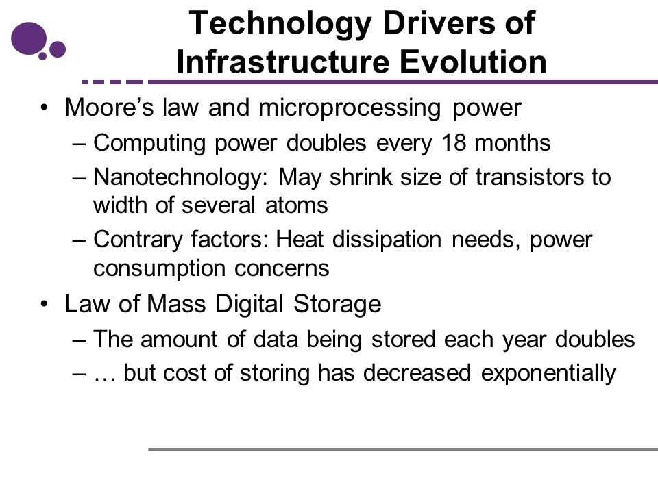 technology drivers of infrastructure evolution