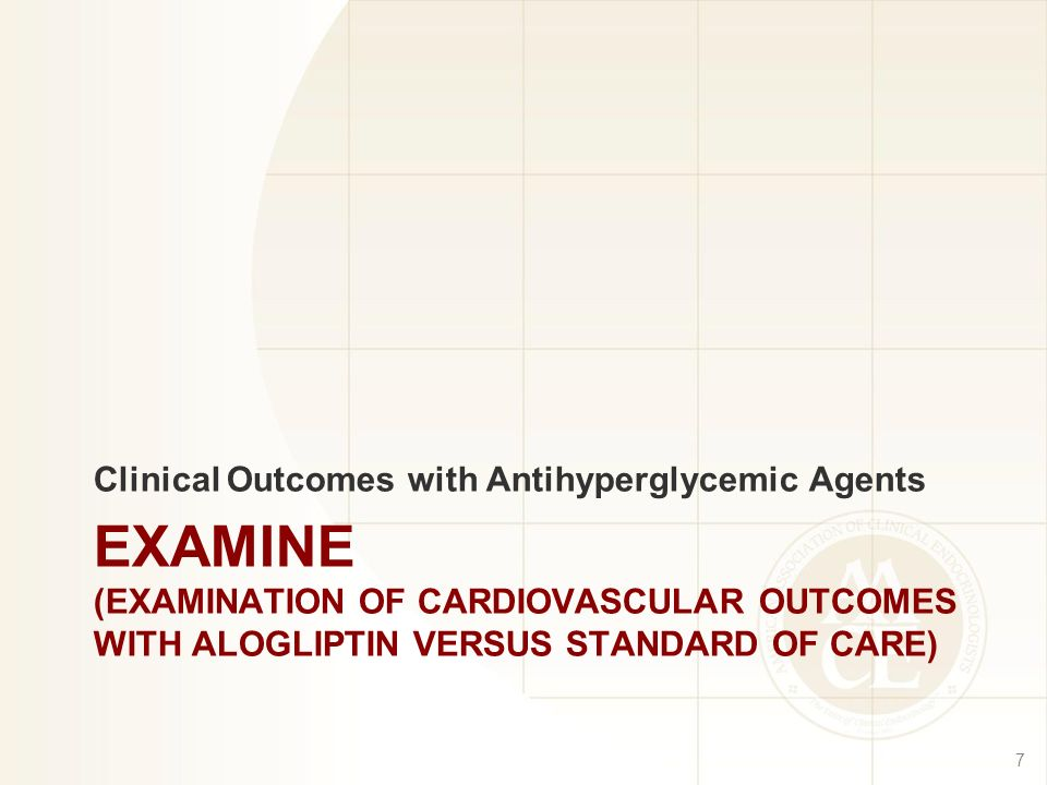 Clinical Outcomes with Antihyperglycemic Agents