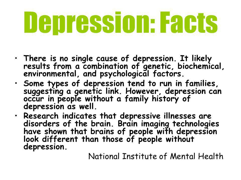 Depression: Facts