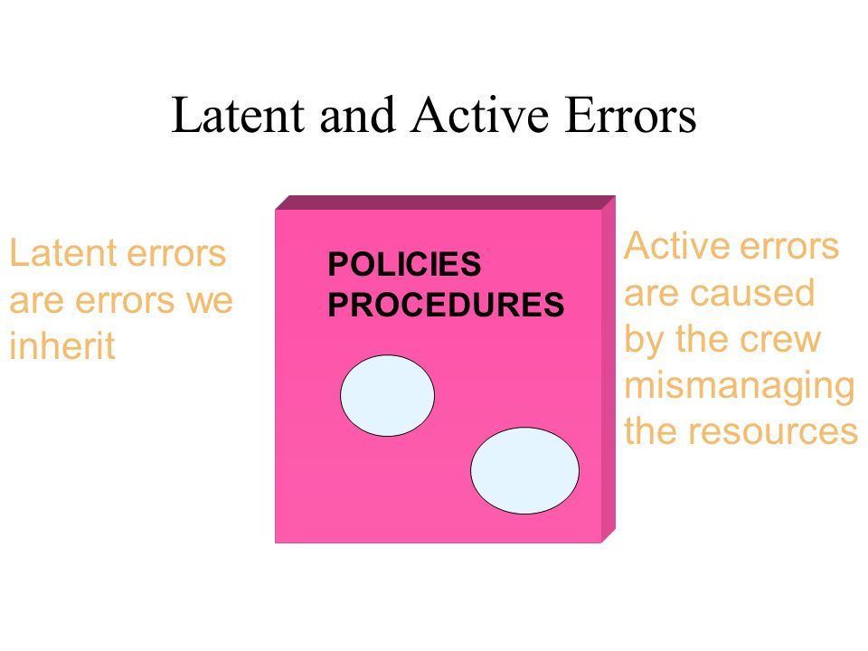 Latent and Active Errors