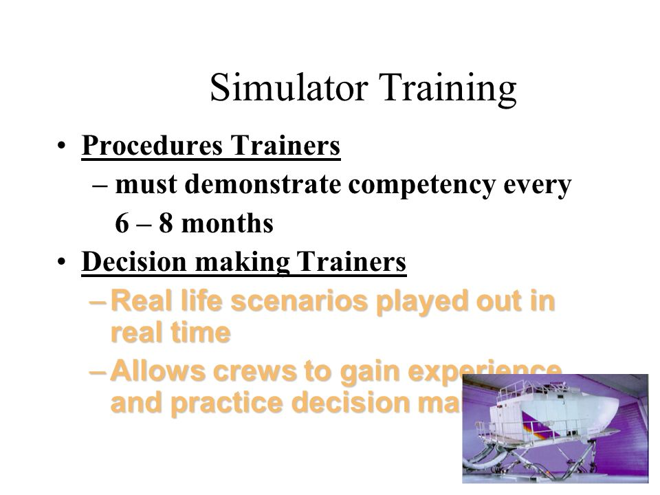 Simulator Training Procedures Trainers