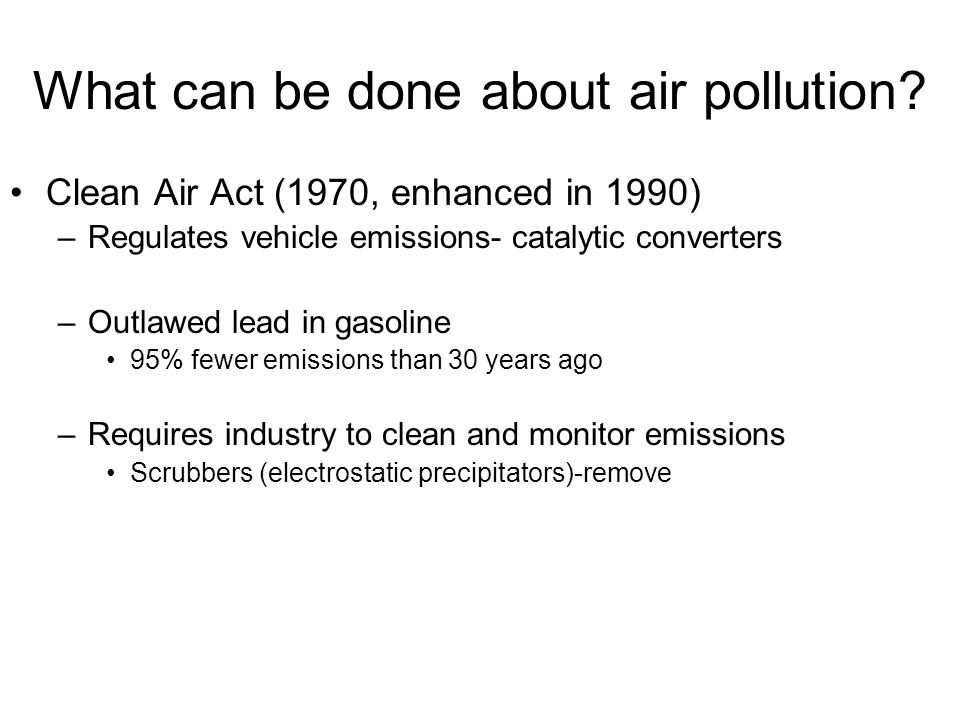 What can be done about air pollution